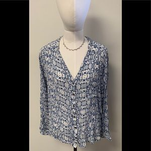 Alythea blue and white blouse